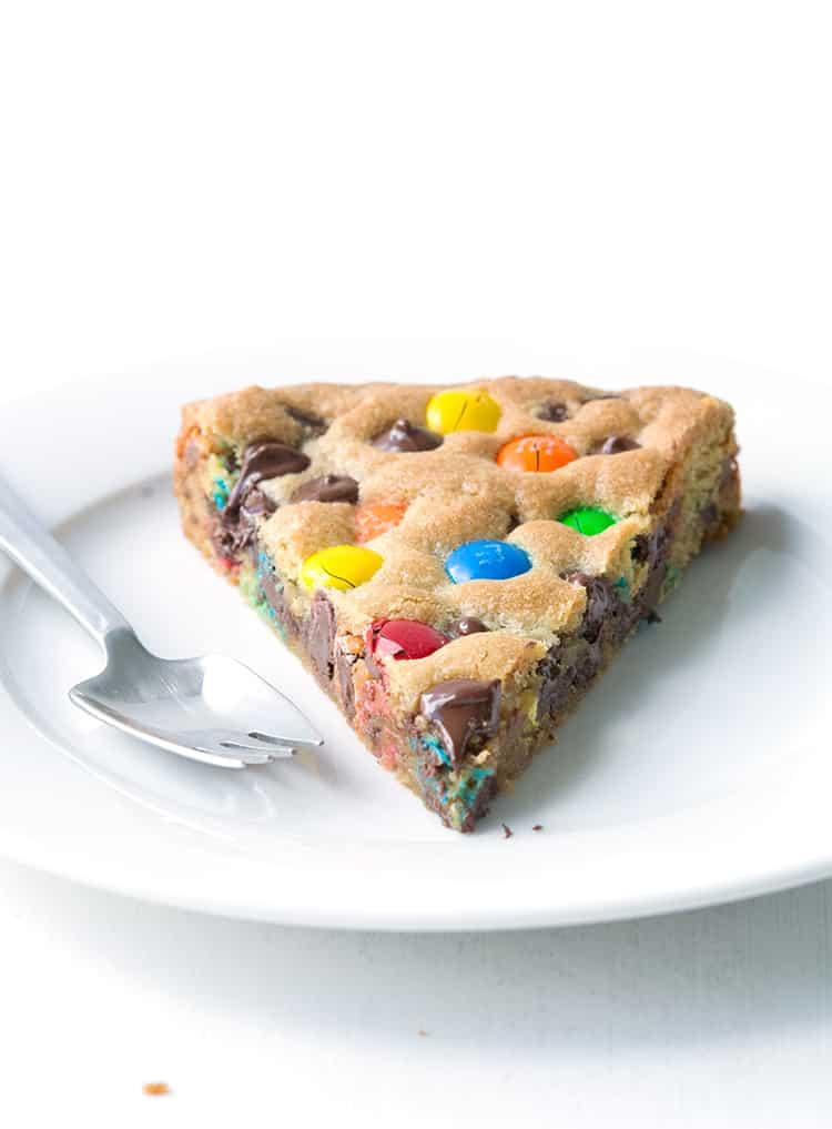 M&M Candy Cookie Pie - Sweetest Menu