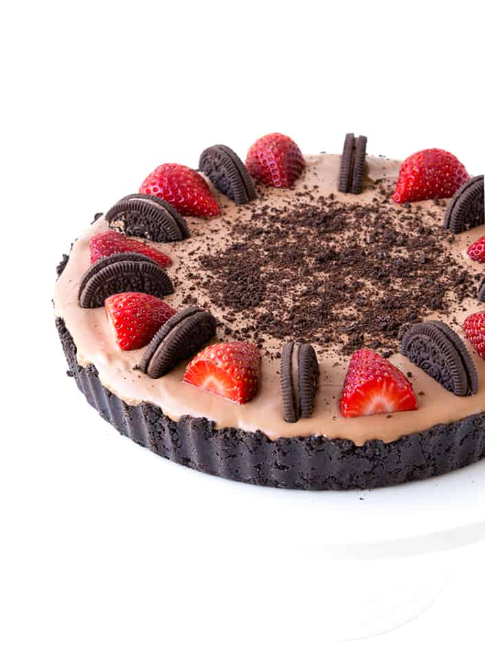 5 Ingredient No Bake Strawberry Chocolate Pie   Sweetest Menu