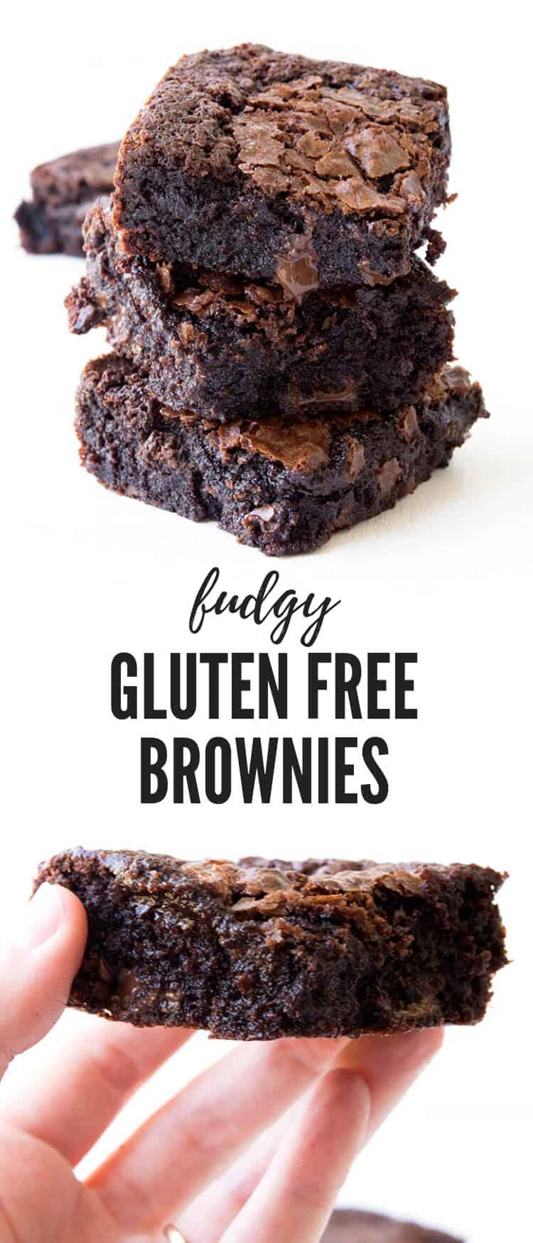 Hands down, the BEST gluten free chocolate brownies that are extra fudgy and gooey. Everyone will LOVE these! Recipe from sweetestmenu.com #glutenfree #brownies #baking #dessert #chocolate