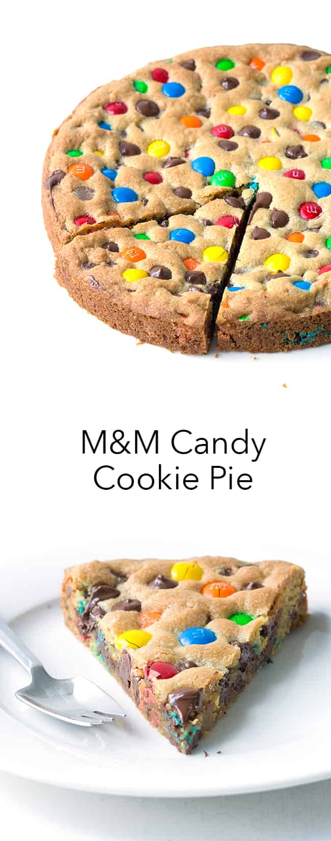 M&M Candy Cookie Pie | Sweetest Menu