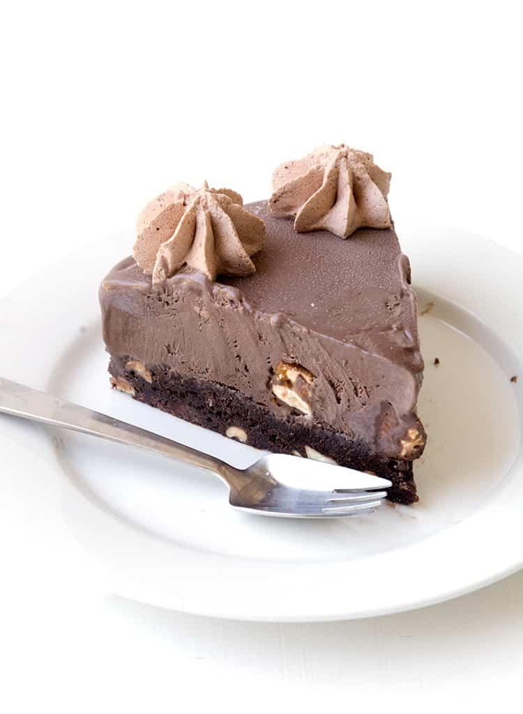 Snickers Chocolate Brownie Ice Cream Cake   Sweetest Menu