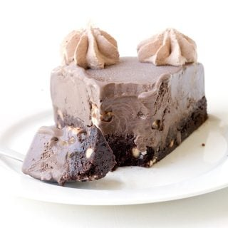 Snickers Chocolate Brownie Ice Cream Cake