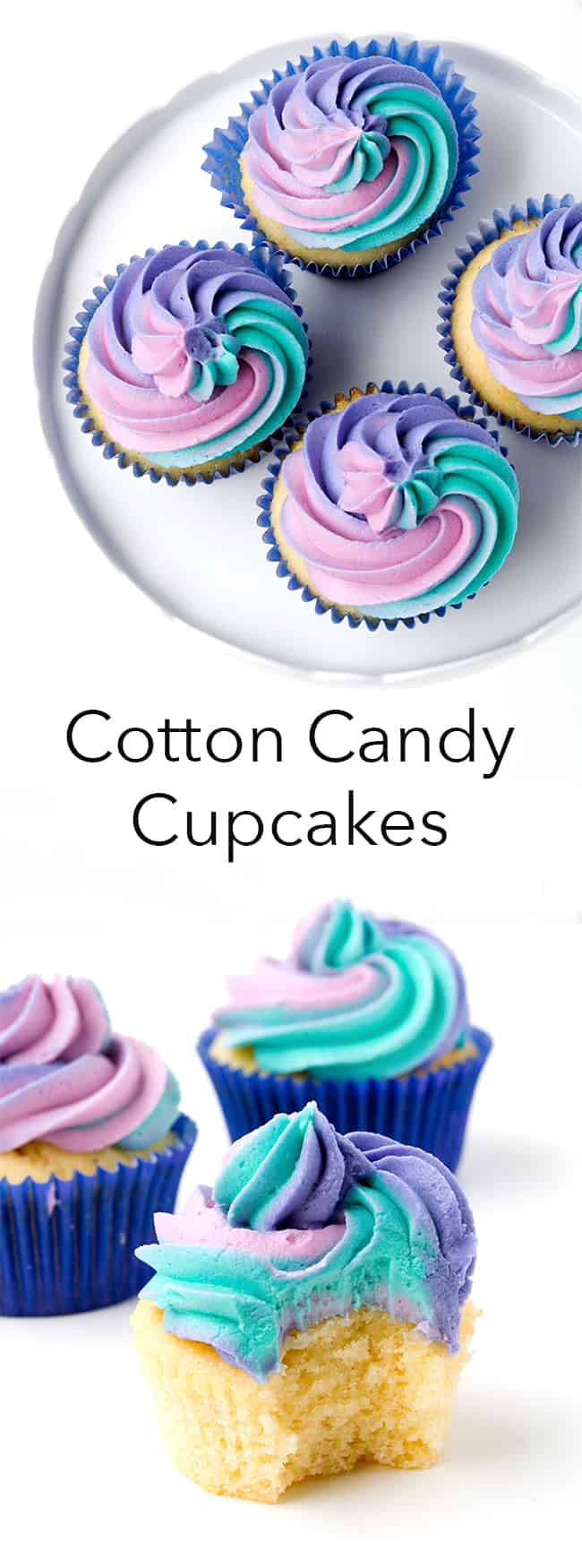 Cotton Candy Cupcakes | Sweetest Menu