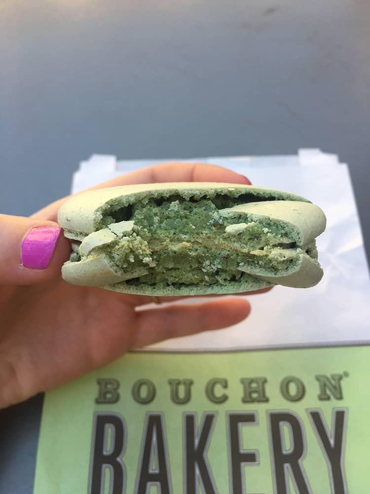 Pistachio macaron from Bouchon Bakery