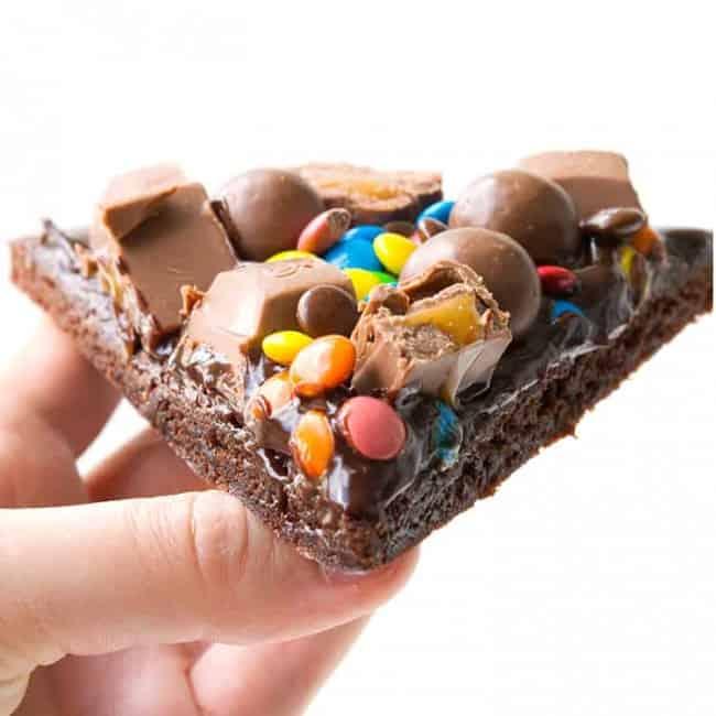 M&M Chocolate Brownie Pizza | Sweetest Menu