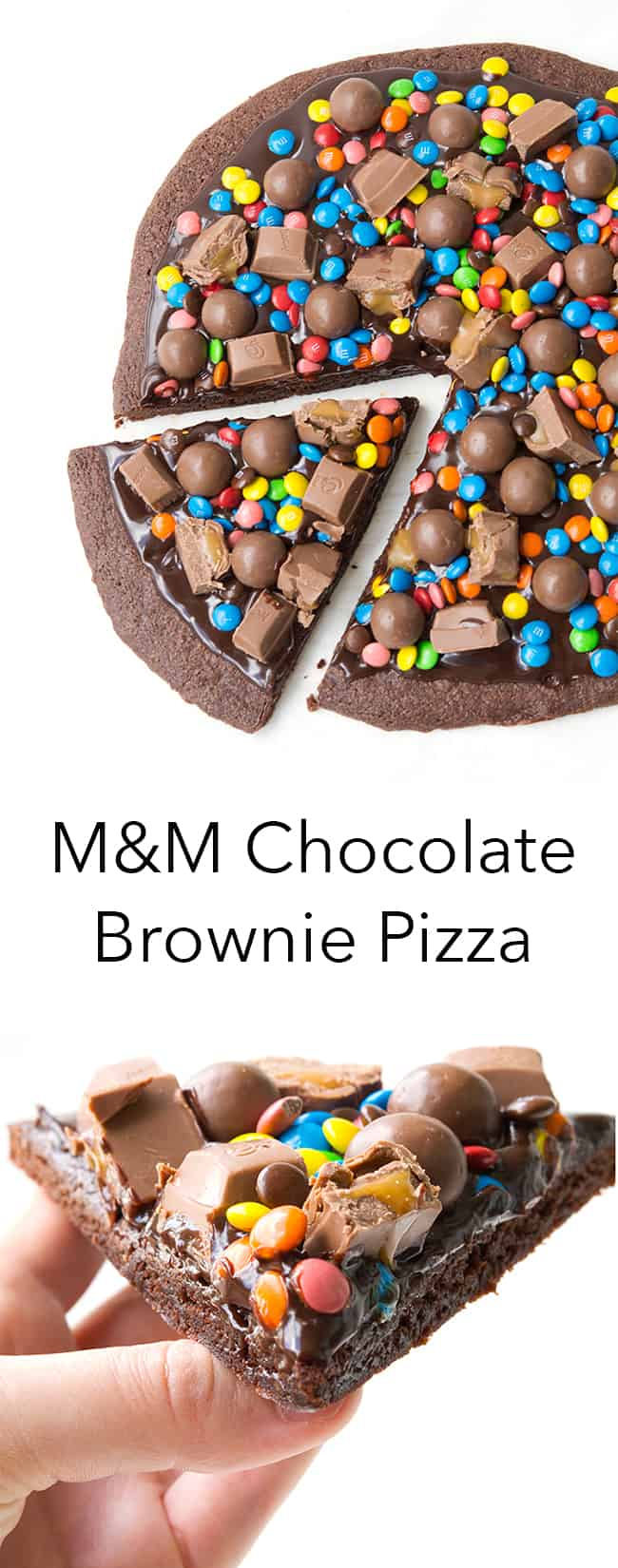 M&M Chocolate Brownie Pizza | Sweetest Menu