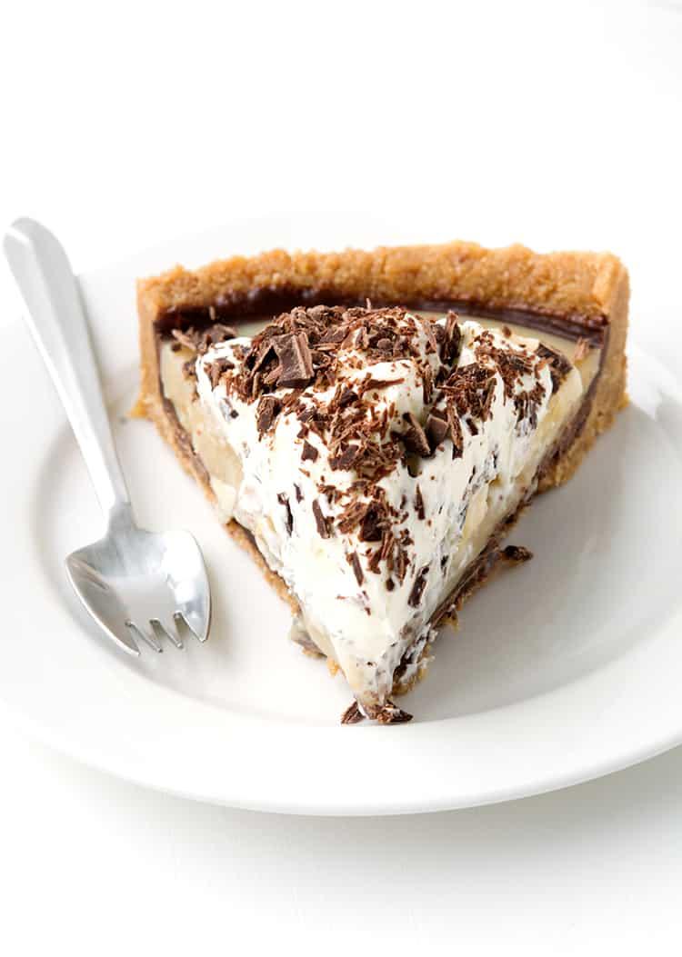 A slice of No Bake Banoffee Pie
