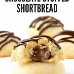Chocolate Stuffed Shortbread Cookies
