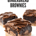 Gingerbread chocolate brownies