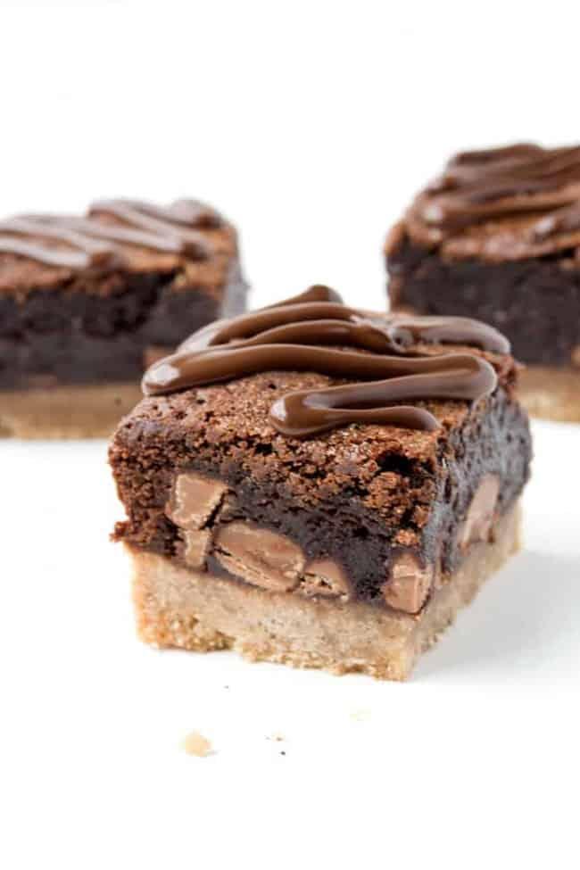 Gingerbread Chocolate Brownies | Sweetest Menu