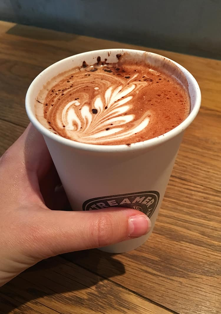 Hot chocolate from Streamer Coffee Company Tokyo
