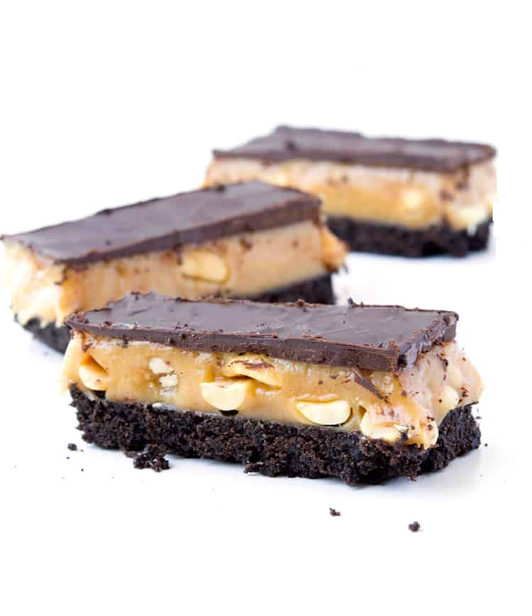 Easy Snickers Oreo Bars
