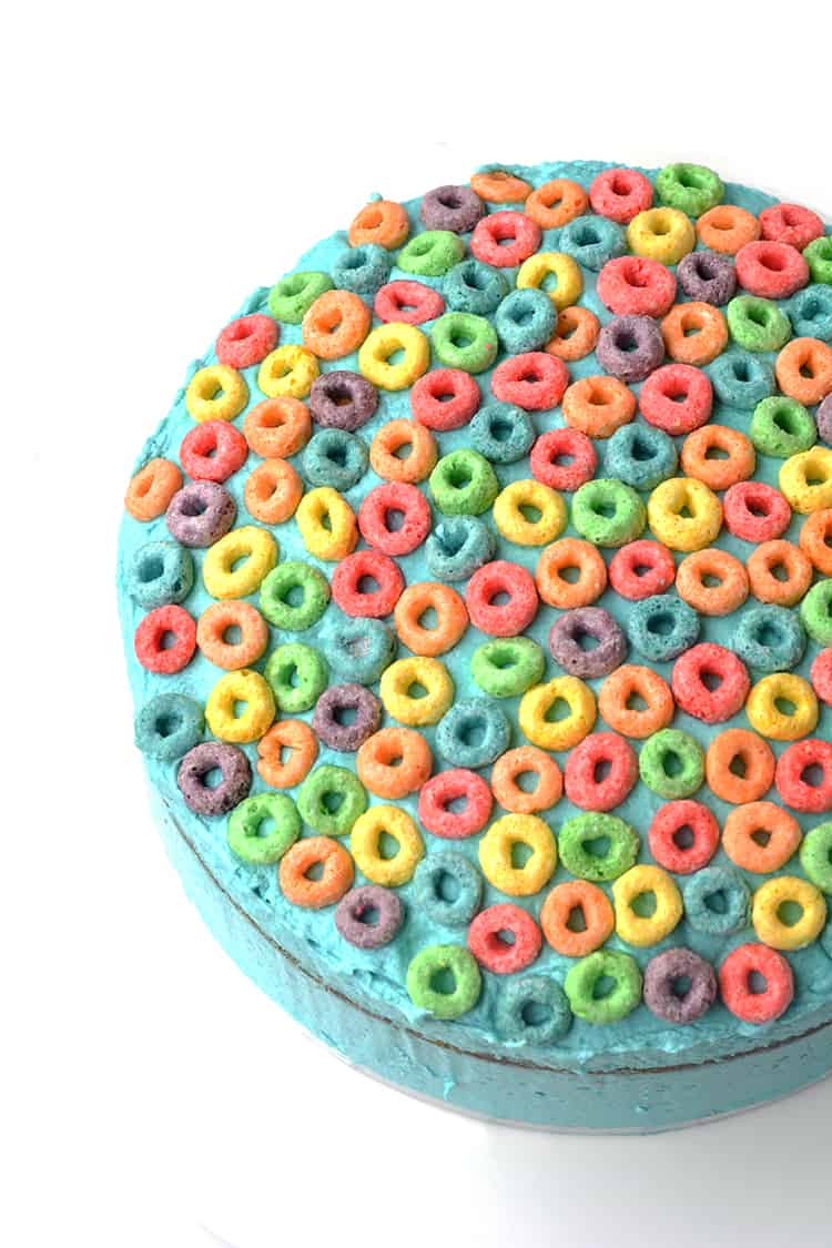 Froot Loop Cereal Milk Cake