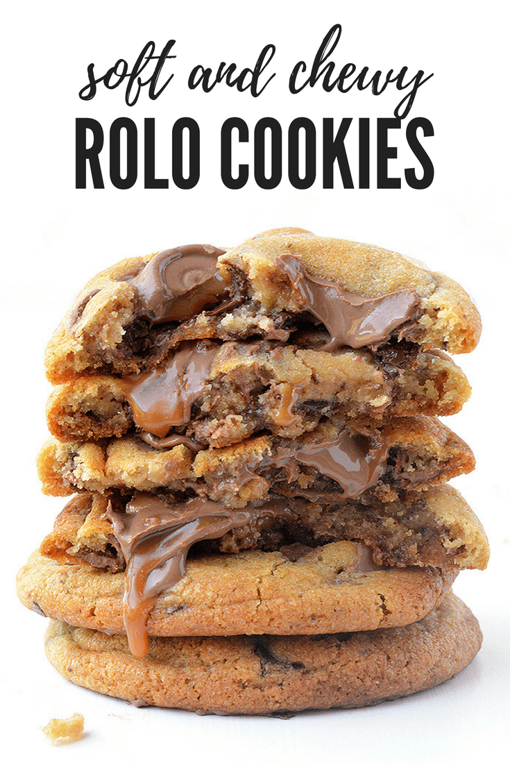 Soft and chewy Rolo Cookies