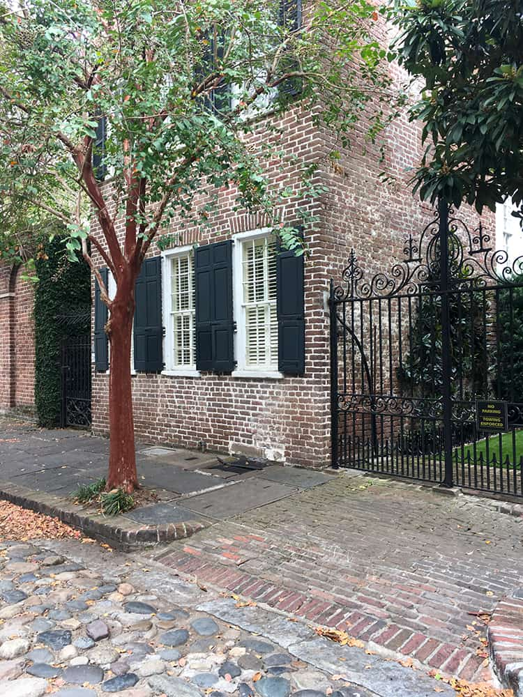 Cobblestone streets in Savannah