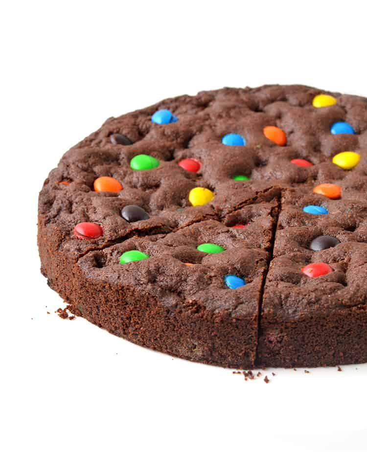 M&M Chocolate Cookie Cake