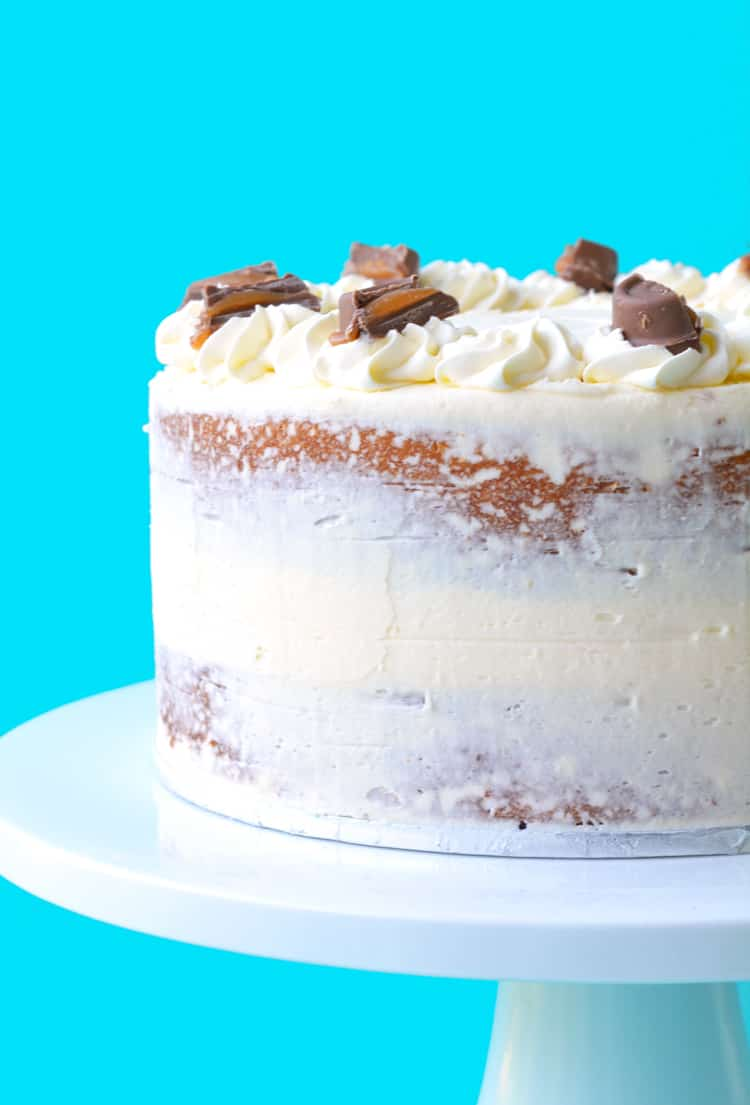 Caramel Mud Cake With White Chocolate Buttercream Sweetest Menu