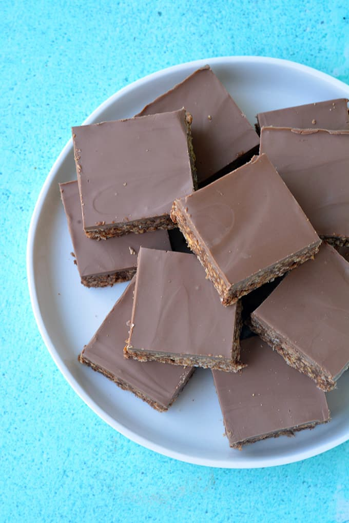 Top view of No Bake Chocolate Slice