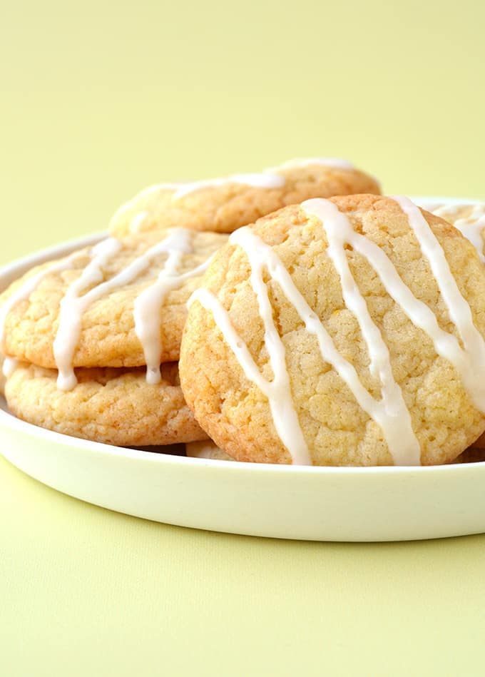 A plate of Lemon Cookies