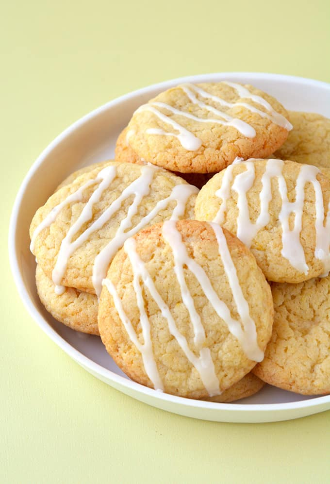 Top view of homemade Lemon Cookies