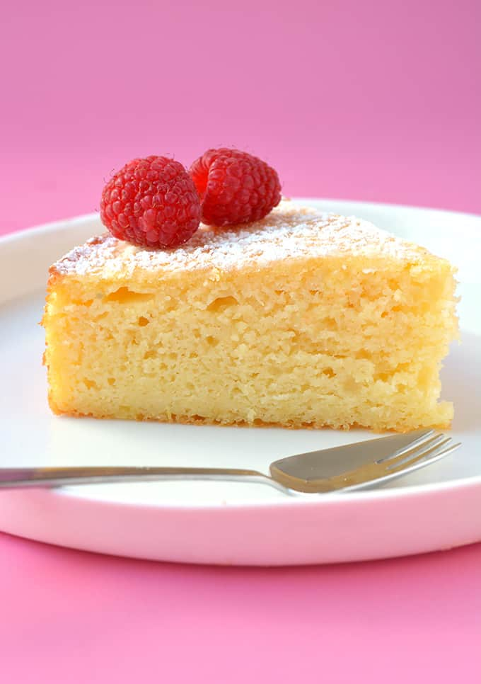 A slice of Lemon Ricotta Cake