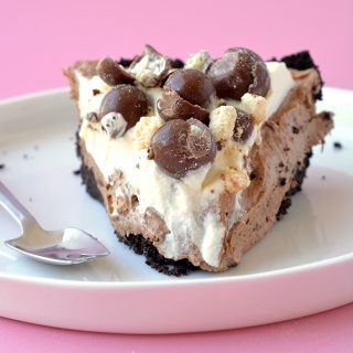 Chocolate Malt Mousse Pie