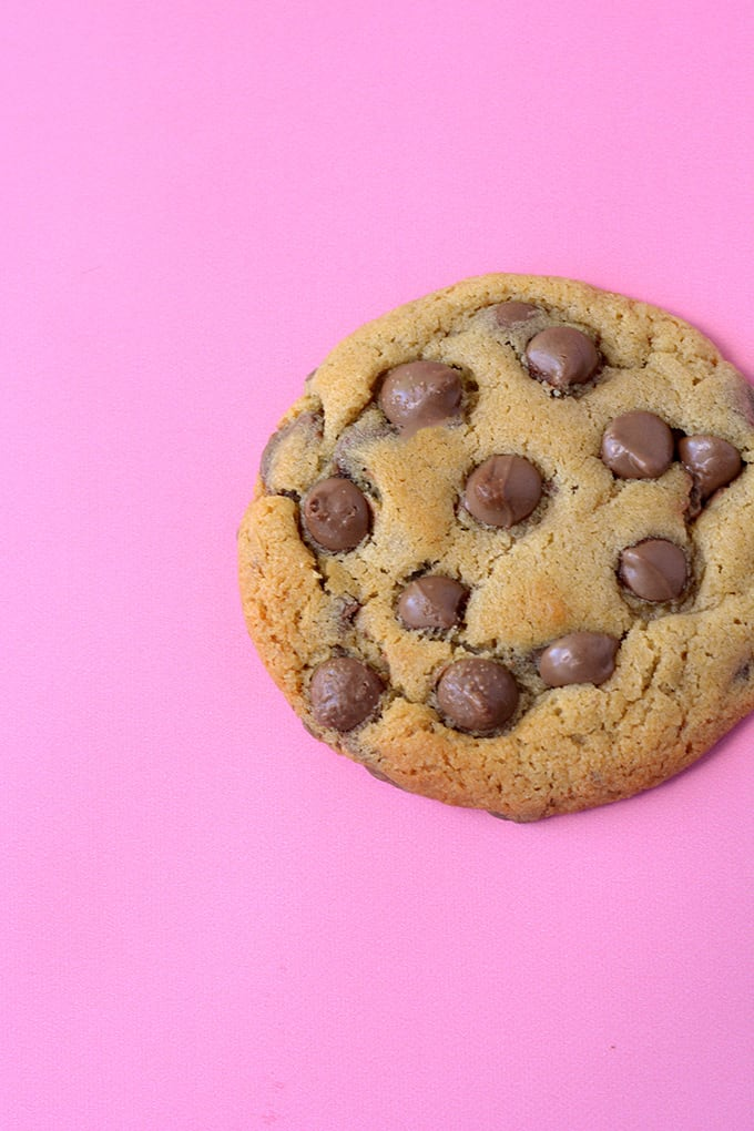 Top view of a Malted Chocolate Chip Cookie