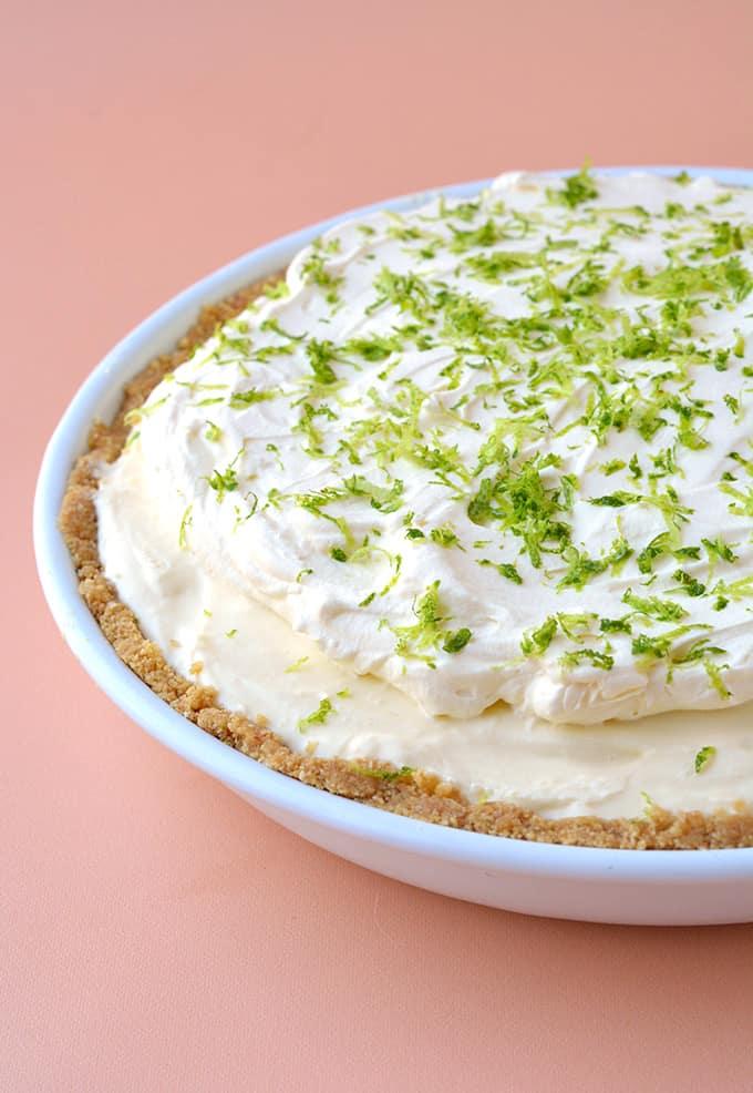 A homemade Key Lime Pie