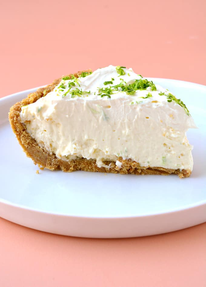 A slice of No Bake Key Lime Pie Cheesecake