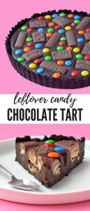Candy Bar Chocolate Tart (Leftover Halloween Candy