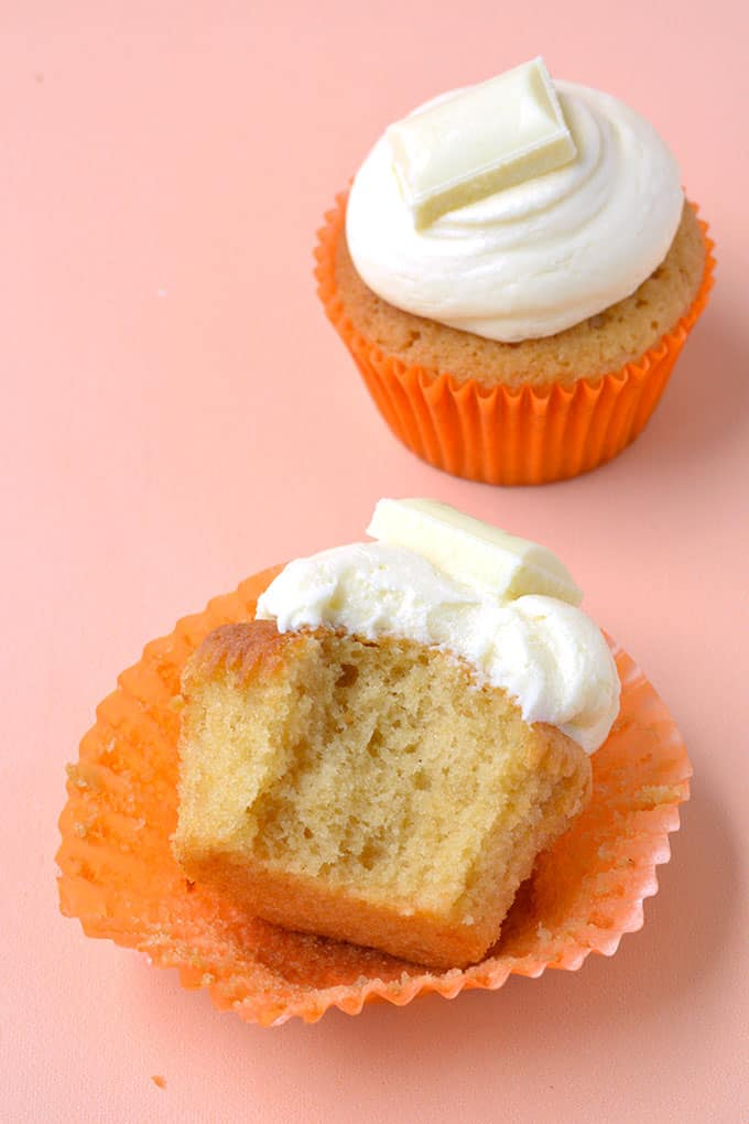 Caramel Cupcakes with a bite taken out of it