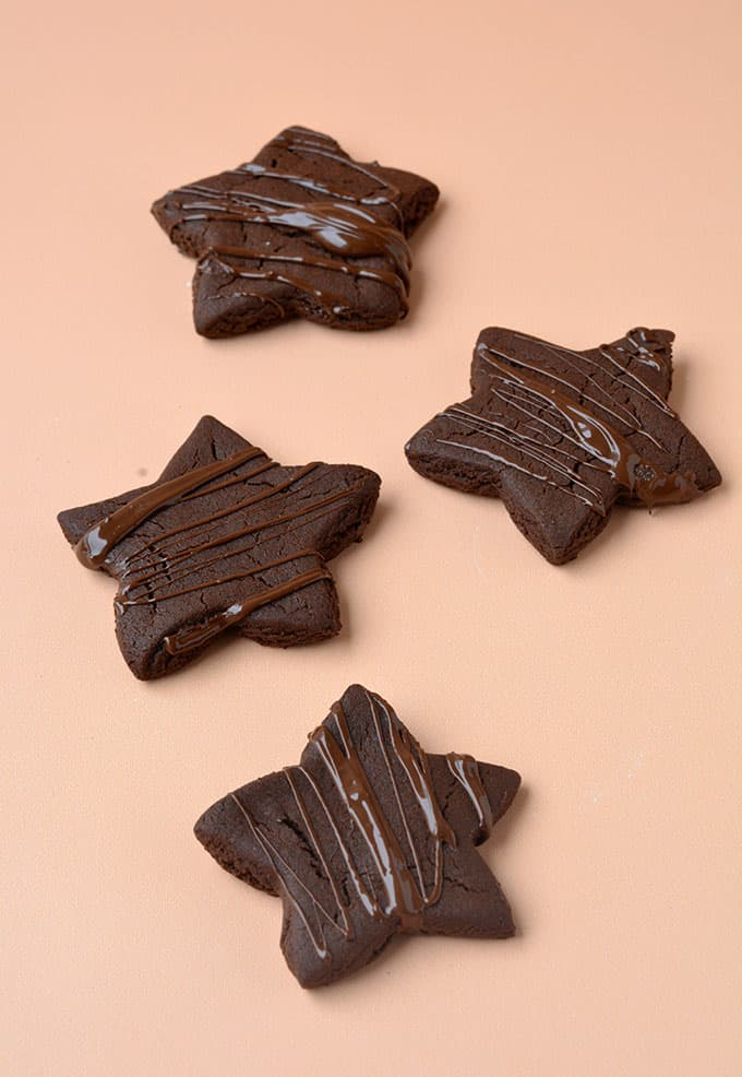 Chocolate Gingerbread Star cookies