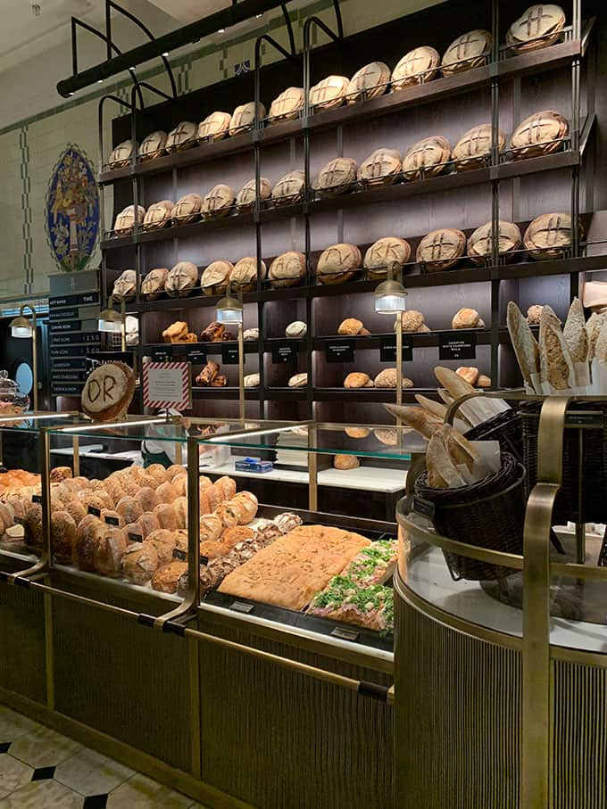 Bakery at Harrods Food Hall in London