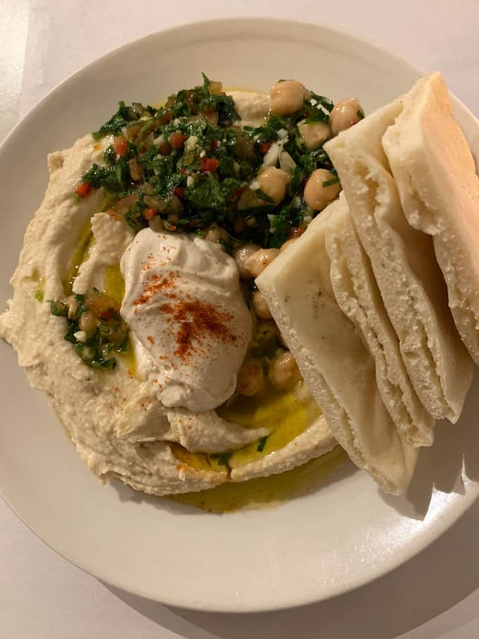 Hummus from Honey and Co in London