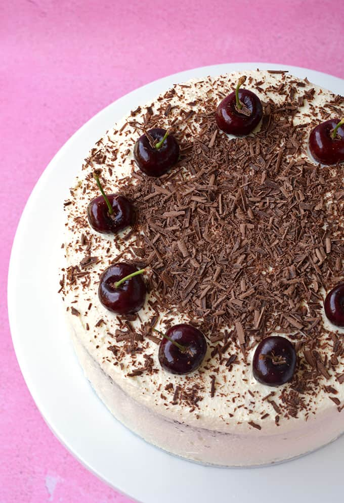 Top view of a Black Forest Cake