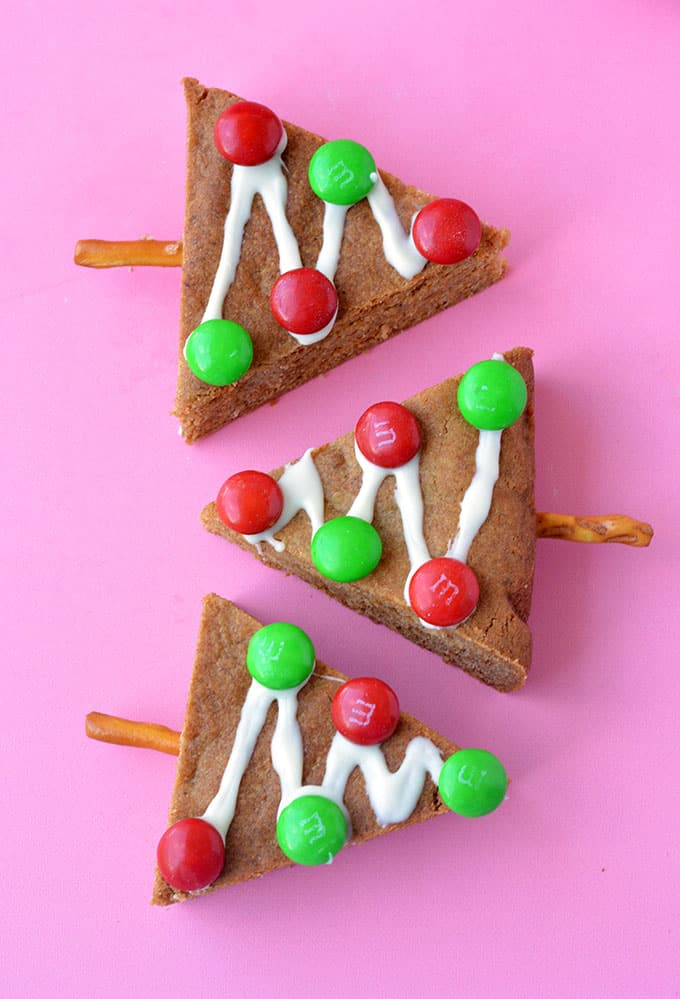 A close up of homemade Gingerbread Cookie Trees