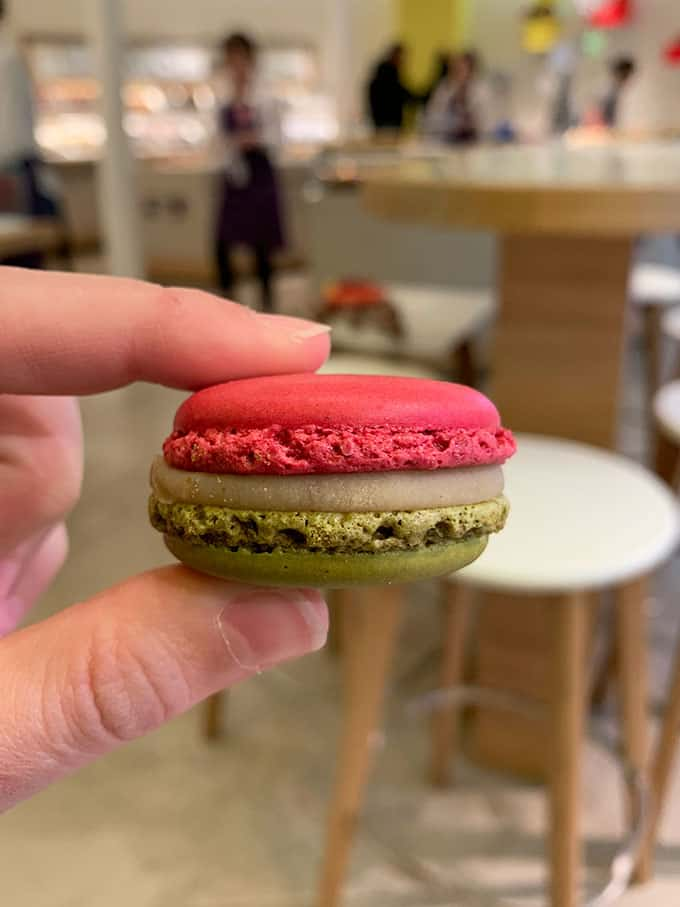 A macaron from Pierre Herme