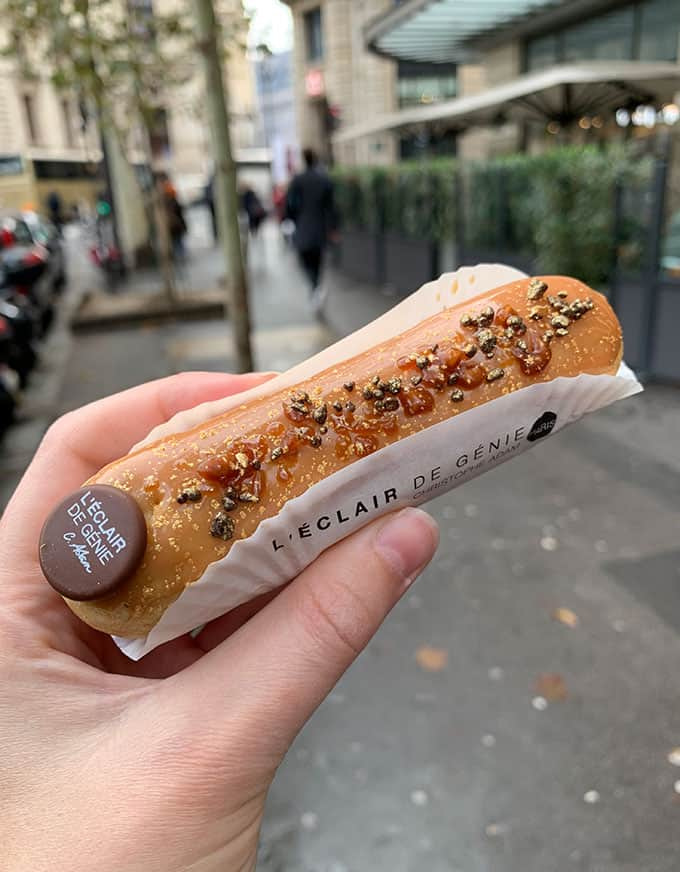 A caramel eclair from L'Eclair De Genie