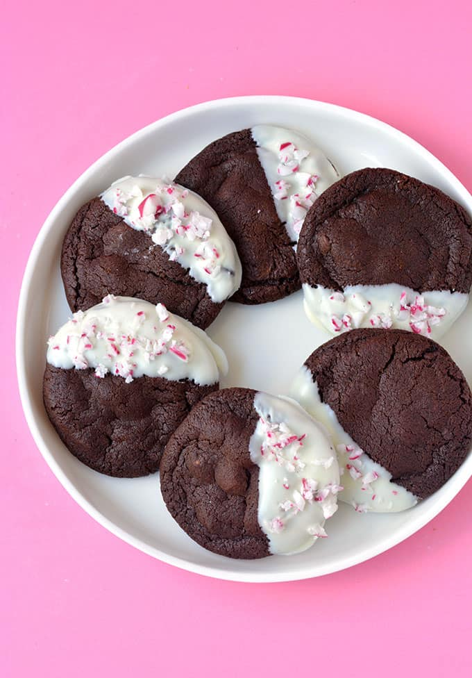 Top view of Peppermint Chocolate Cookies