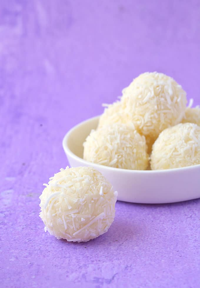 Homemade White Chocolate Coconut Truffles