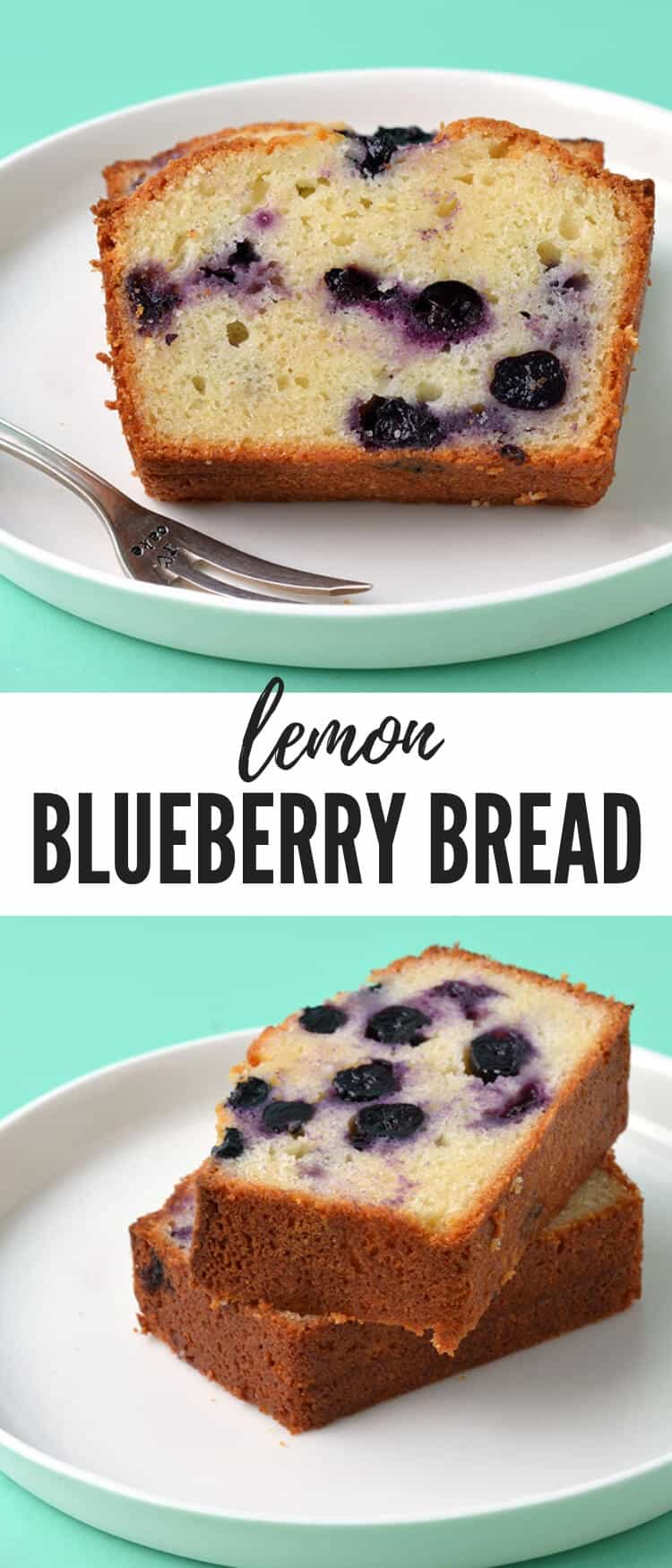 Homemade Blueberry Bread perfect for breakfast or morning tea. This moist olive oil loaf cake is packed with fresh blueberries and a squeeze of lemon. Find the easy recipe on sweetestmenu.com #blueberry #bread #lemon #oliveoilcake