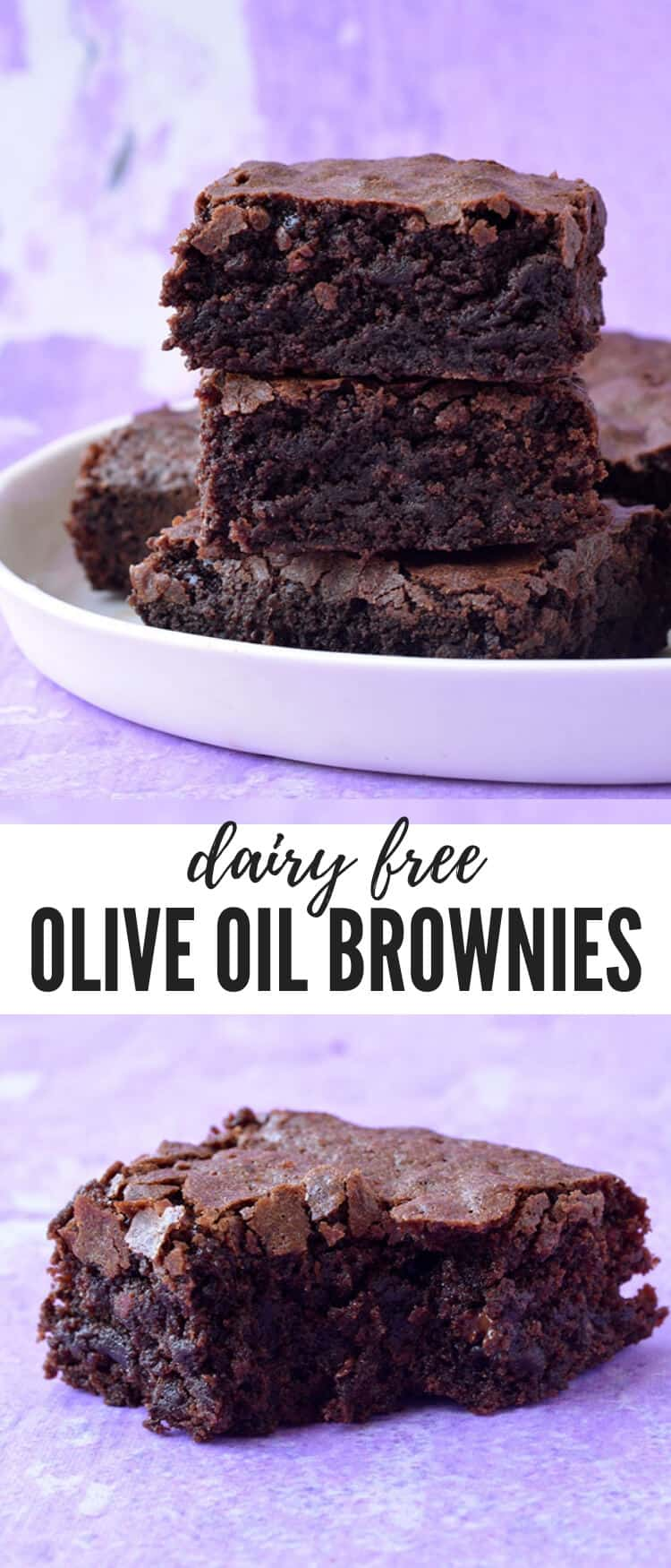 You'll fall head over heels for these deliciously easy Olive Oil Brownies. Filled to the brim with chocolate, these dairy free brownies have a crispy, crinkly top and a super fudgy centre. Recipe from sweetestmenu.com #brownies #chocolate #dairyfree #dessert