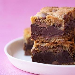 Fudge Stuffed Cookie Bars