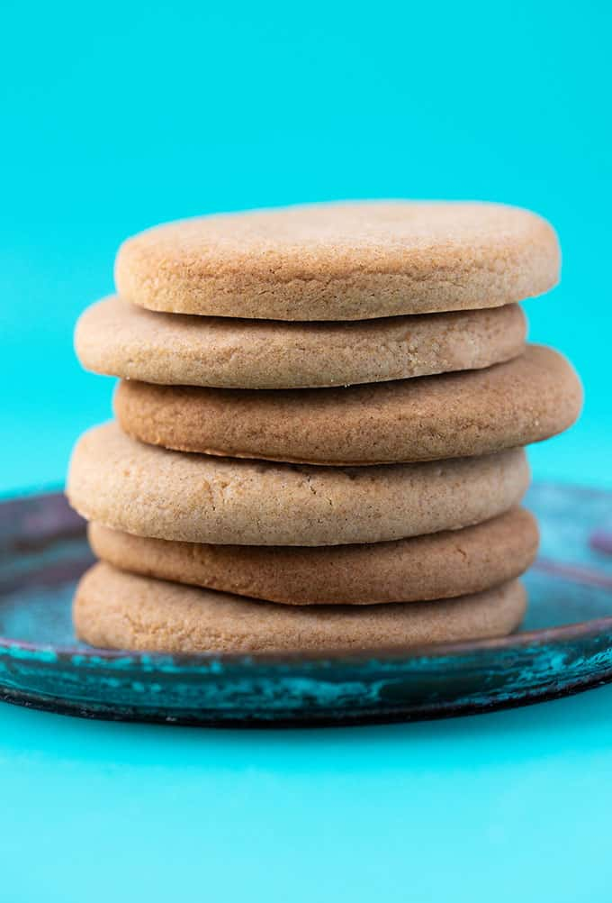 A tall stack of Honey Cookies
