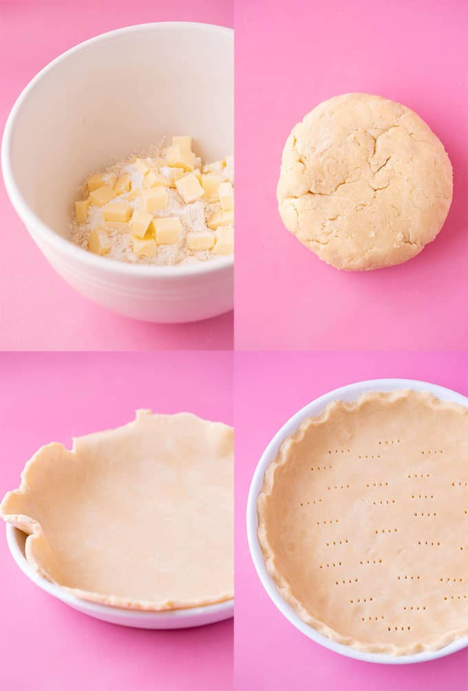 Step by step photos on how to make shortcrust pastry