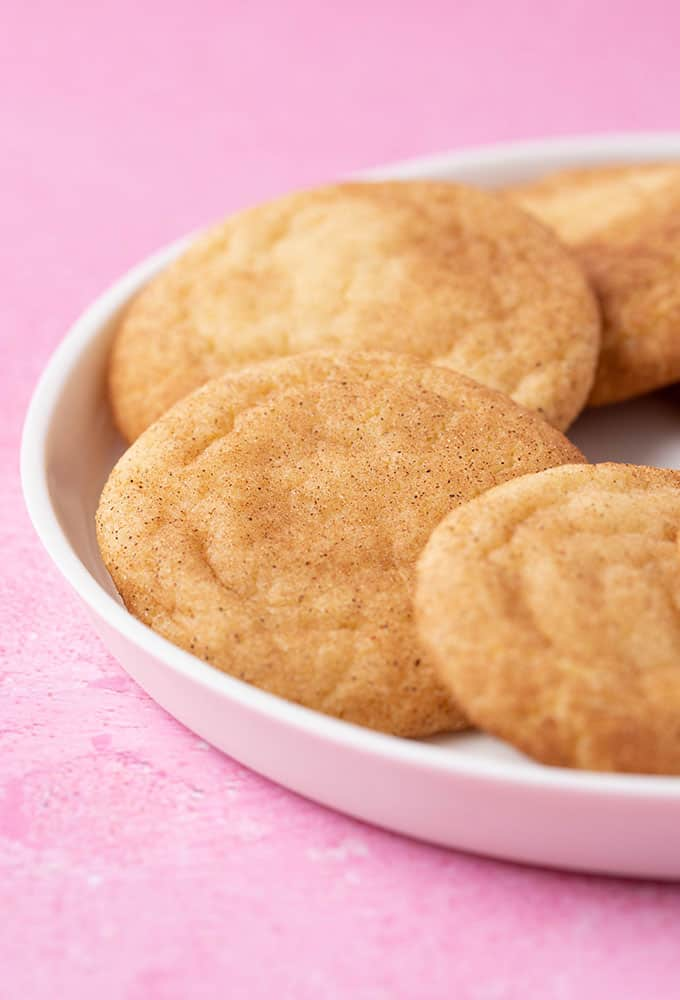A plate of homemade Snickerdoodle Cookies