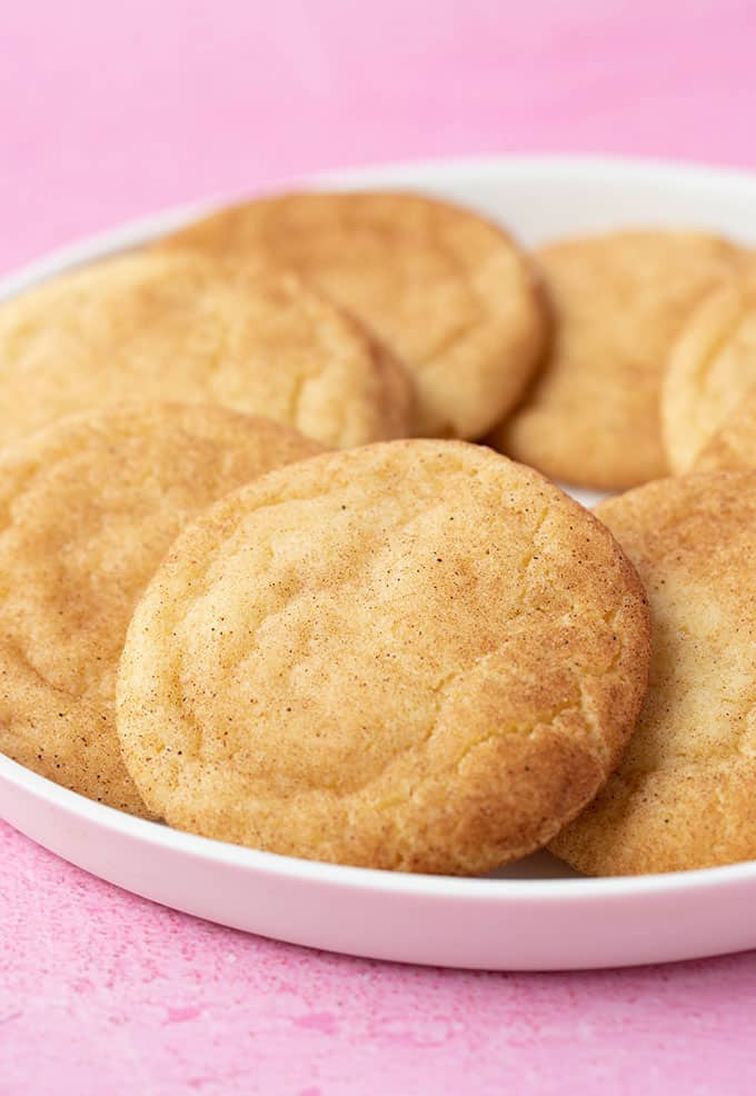 A plate of chewy Snickerdoodle Cookies