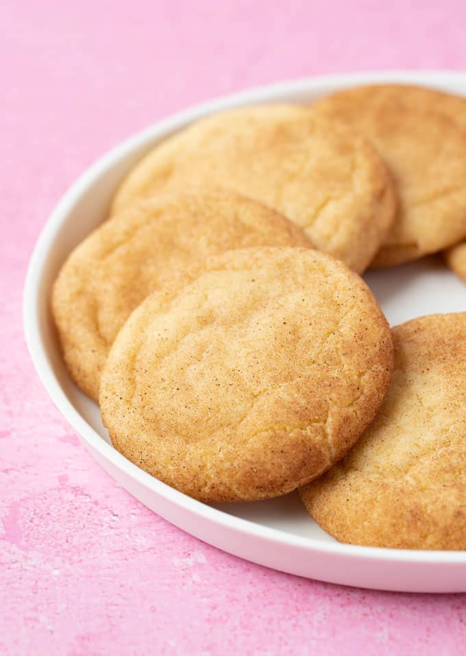 A plate of homemade Snickerdoodle Cinnamon Cookies