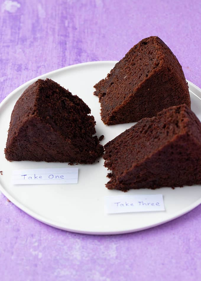 A plate of different gluten free chocolate cakes