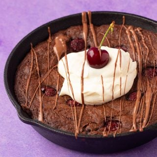 Black Forest Skillet Brownie